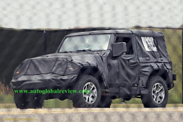 2018 Jeep Wrangler JL Interior And Spy Shot