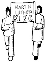 Martin Luther King Street March Coloring Sheet