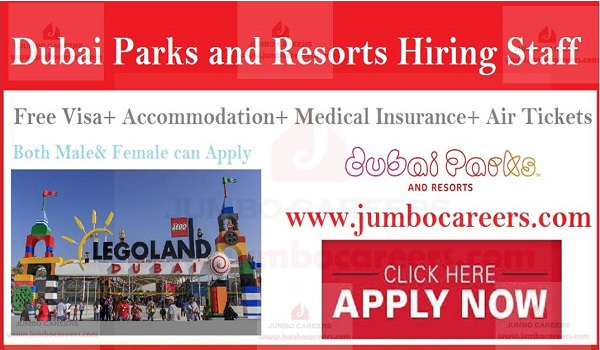 Job Openings at Legoland Dubai, Urgent jobs in Gulf countries,