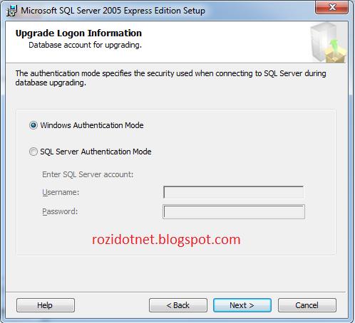 how to run microsoft sql server express