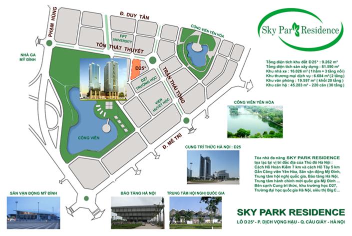 Vị trí Sky Park Residence Tôn thất thuyết
