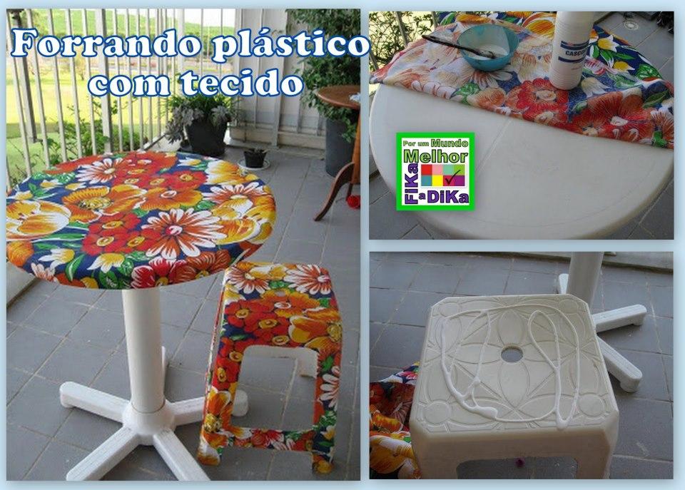 Artesanato fofo aplicando tecido na mesa de pl stico - Tapizado de sillas paso a paso ...