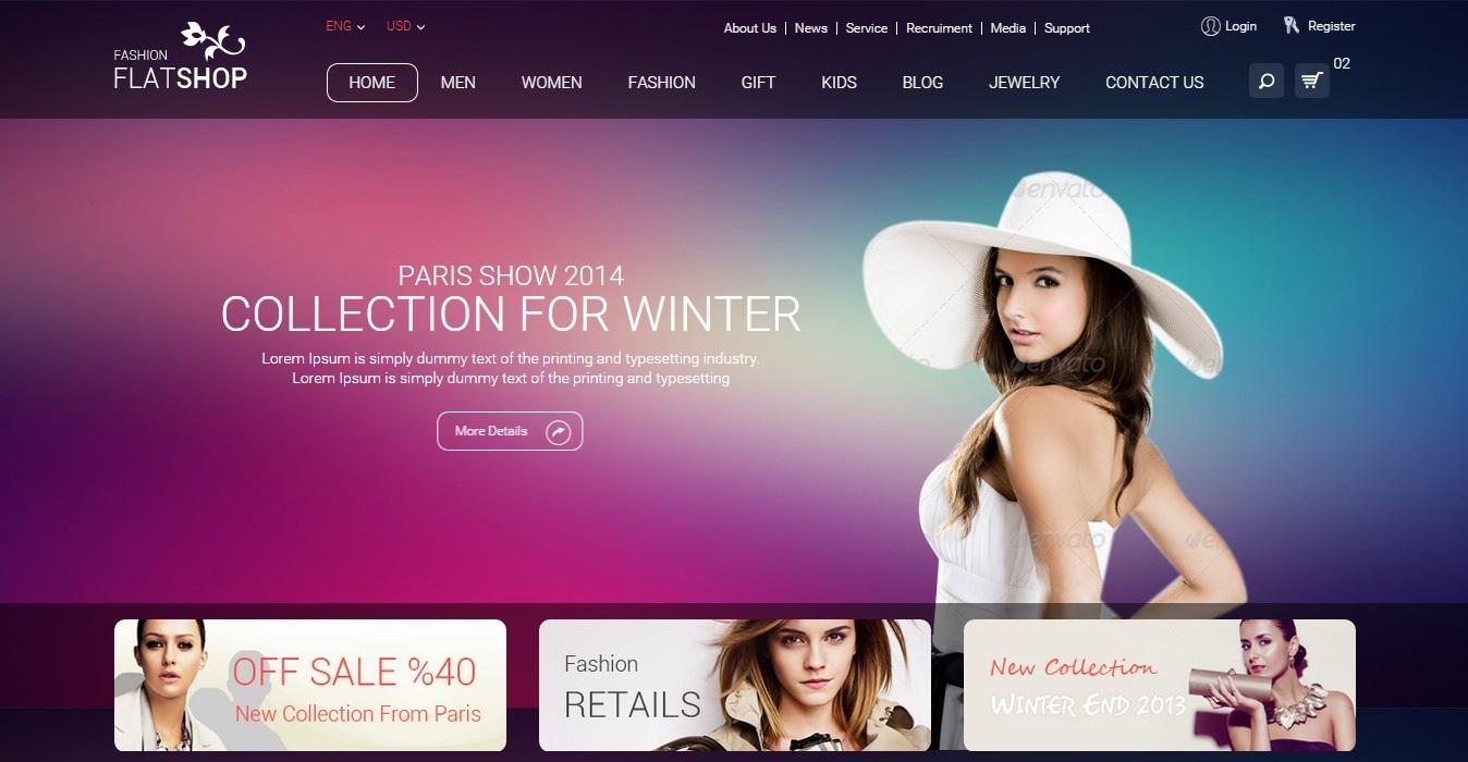 Share giao diện shop thời trang FlatShop
