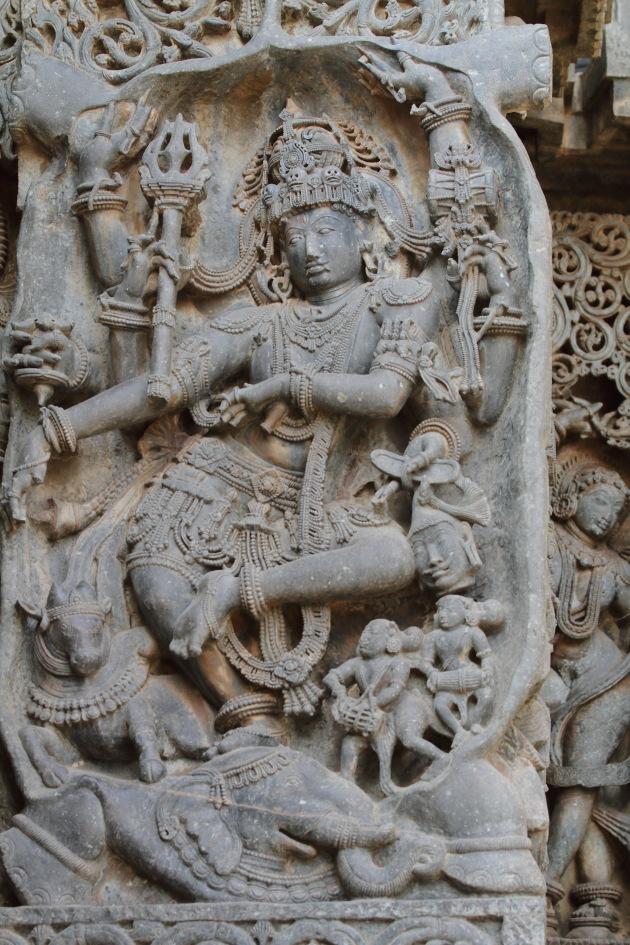 Dancing Shiva at Hoysalaeswara Temple, Halebid, Karnataka