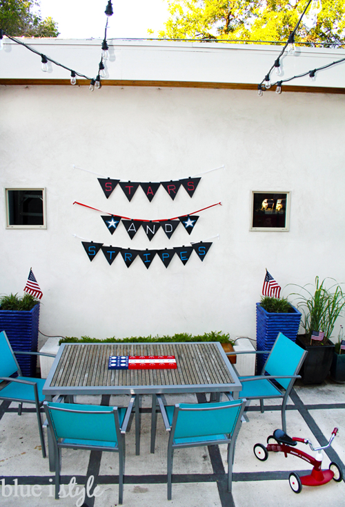4th of July Chalkboard Fabric Banner