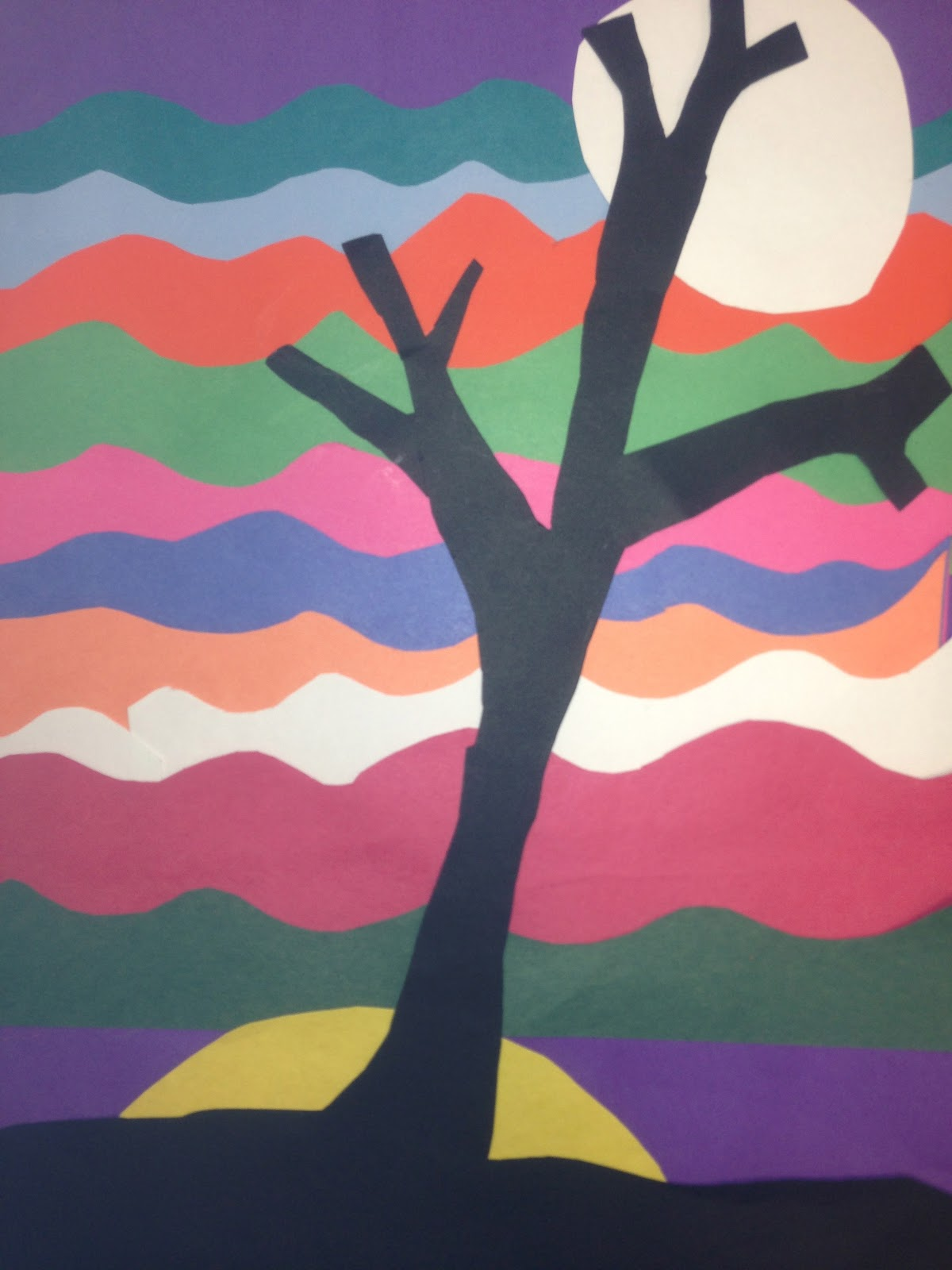k 12 the art gallery twilight landscapes layered paper 4th 5th grade
