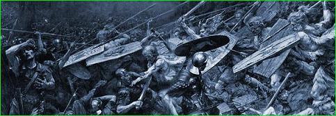 Jovanovic, Furia Teutónica, Arminio, desastre, Varo, legiones, romanos, bosque, Teutoburgo, Saltus, Teutoburgiensis, Kalkriese, Roma, Germania, heliograbado, museo, Belgrado