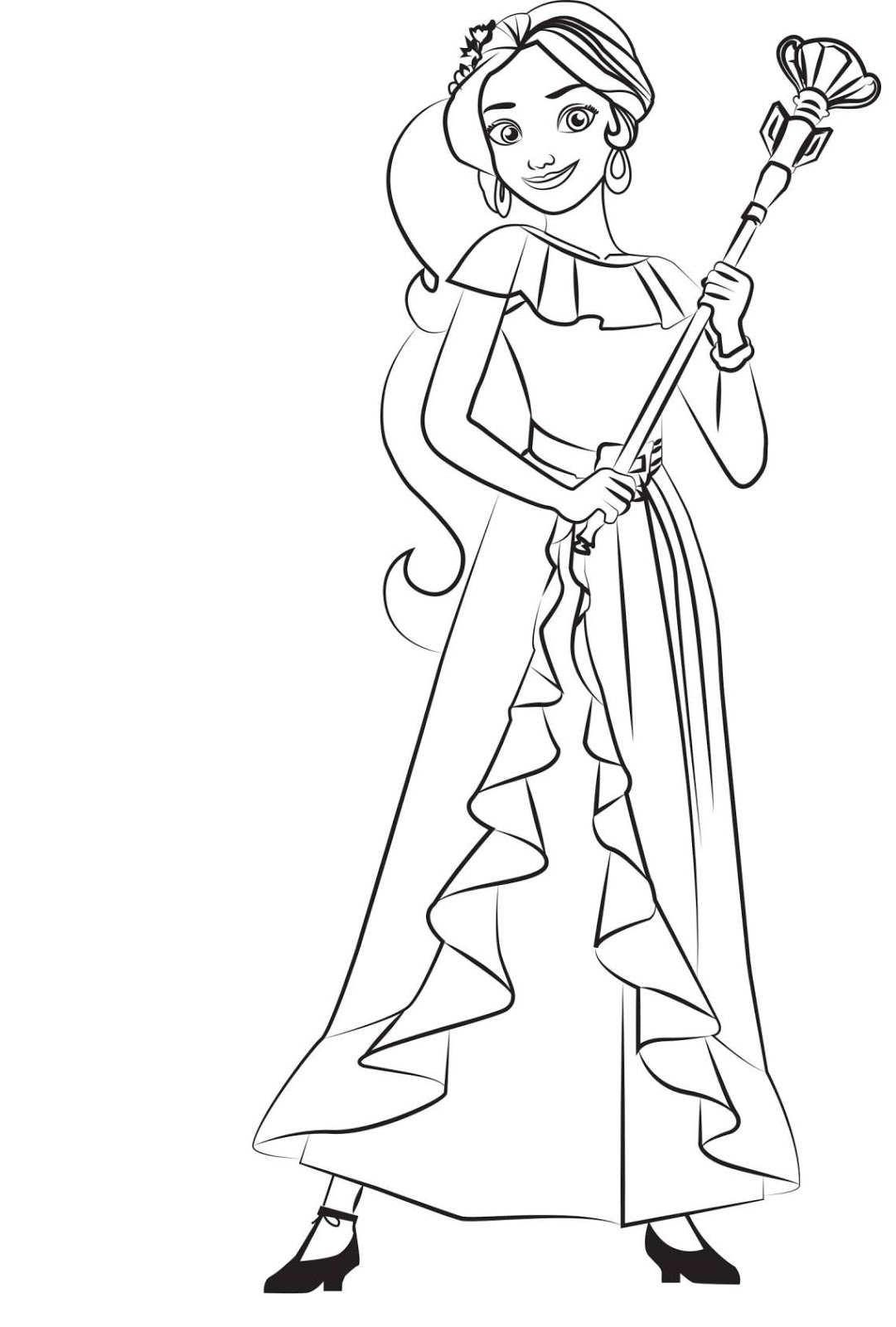 Elena Of Avalor Coloring Pages - Kidsuki