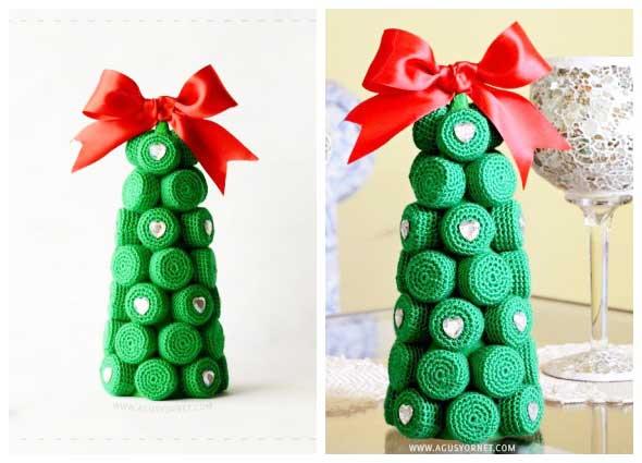 crochet navidad, ornamentos navideños, manualidades tejidas