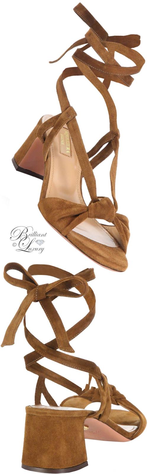 Brilliant Luxury ♦ Aquazzura Delicieuse Suede Sandals
