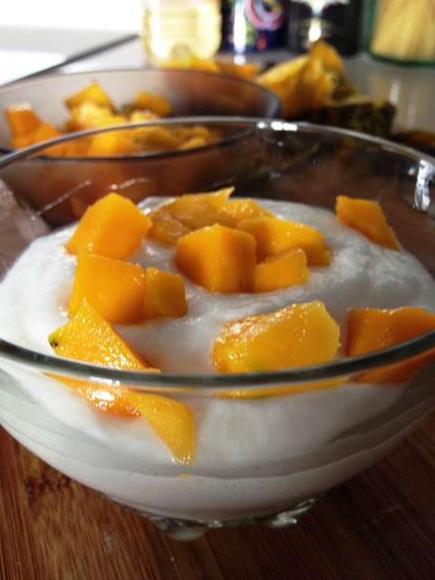 Sweet Kwisine, mousse, fromage blanc, mangue, maracujas, fruits de la passion
