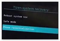 Phone reinitialization