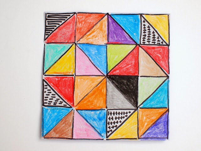 how to turn origami into lovely, colorful artwork