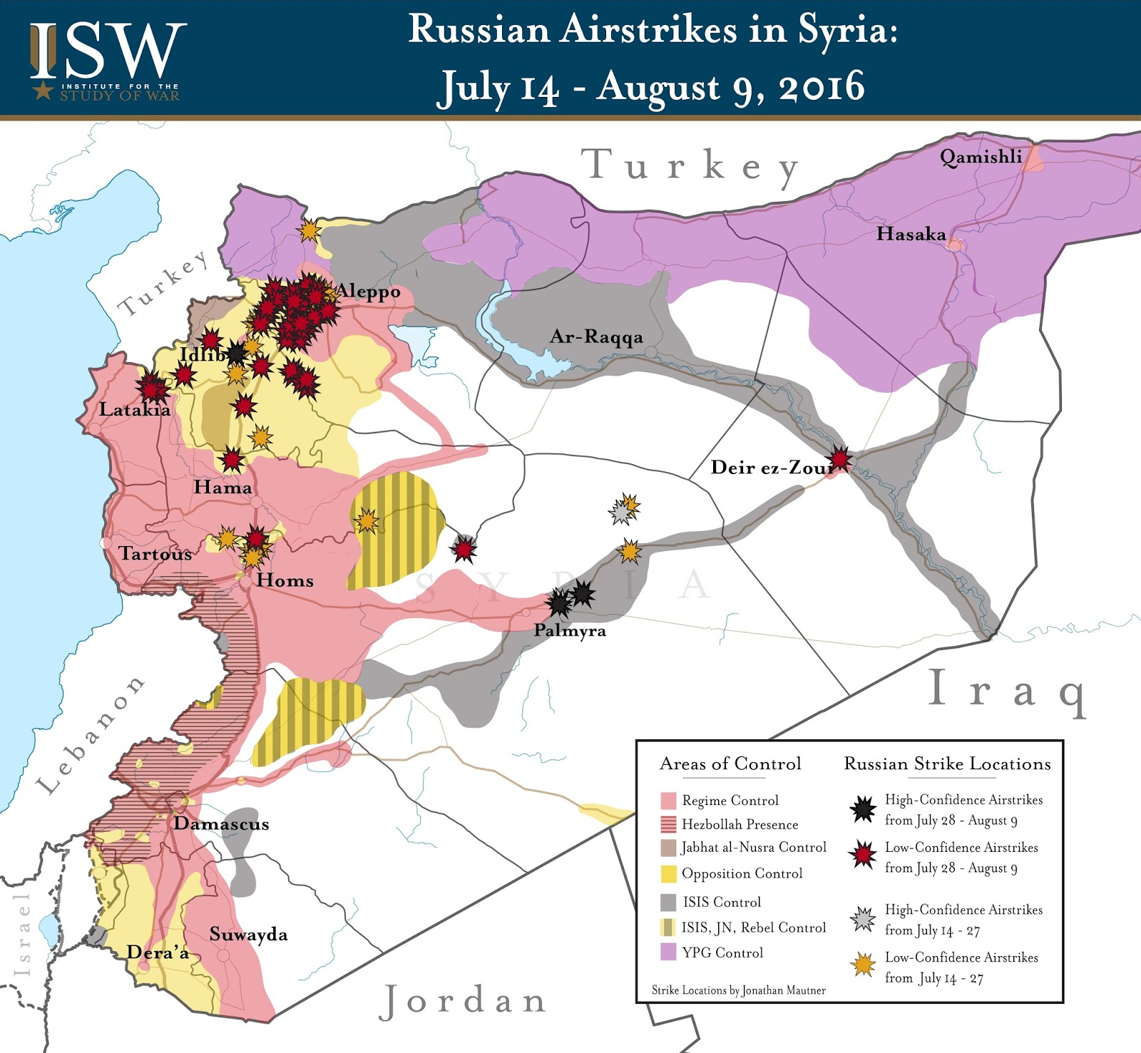Russian Airstrikes in Syria: July 14 - August 9, 2016