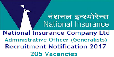 NICL Administrative Officer Generalist Recruitment 2017