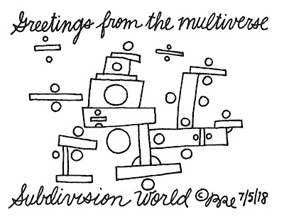 Greetings from the multiverse.Subdivision World.
