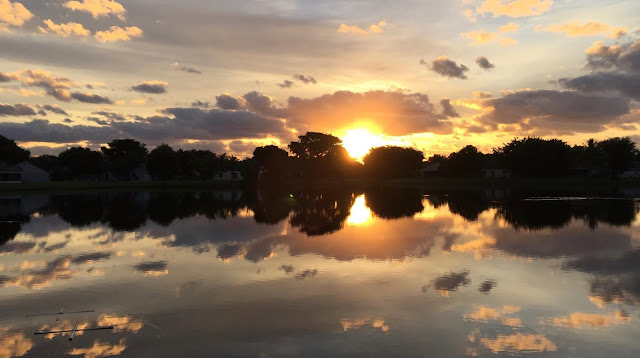 Sunrise on a South Florida lake ©Colleen M. Dougher, The Invisible Fly