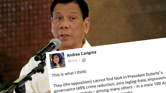 "Opposition is ""demonizing"" Duterte, says netizen"