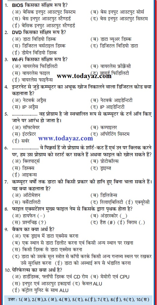 General Knowledge Questions In Hindi Pdf 2014
