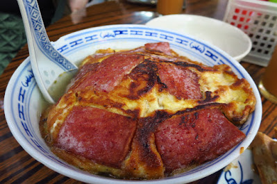 Yue Hing, luncheon meat noodles