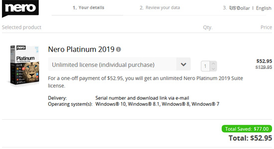 Nero Platinum 2018 Coupon Discount