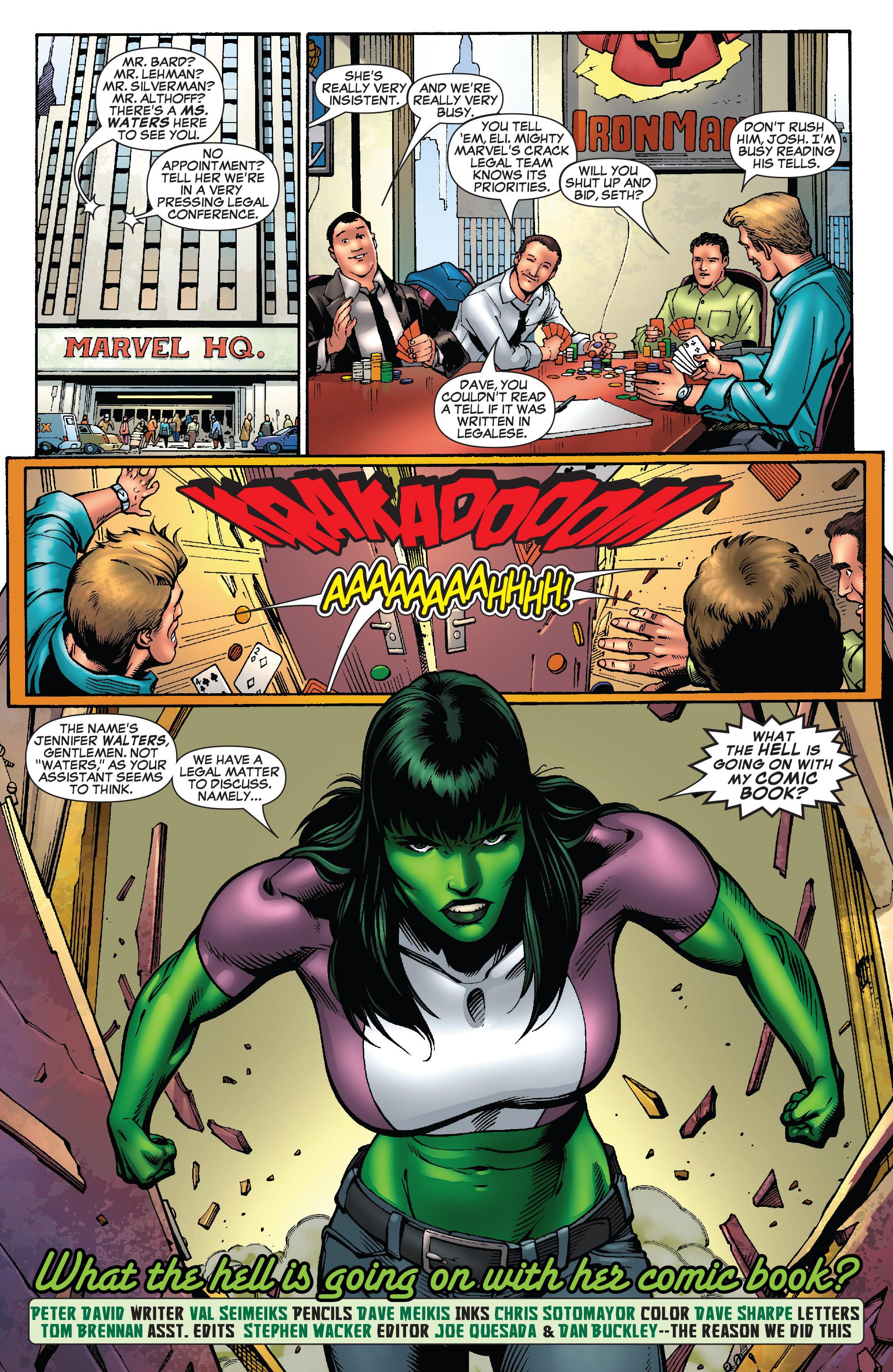Read online She-Hulk (2005) comic -  Issue #25 - 31