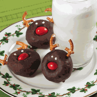 Christmas Reindeer Mini Donuts, Free-N-Fun Christmas