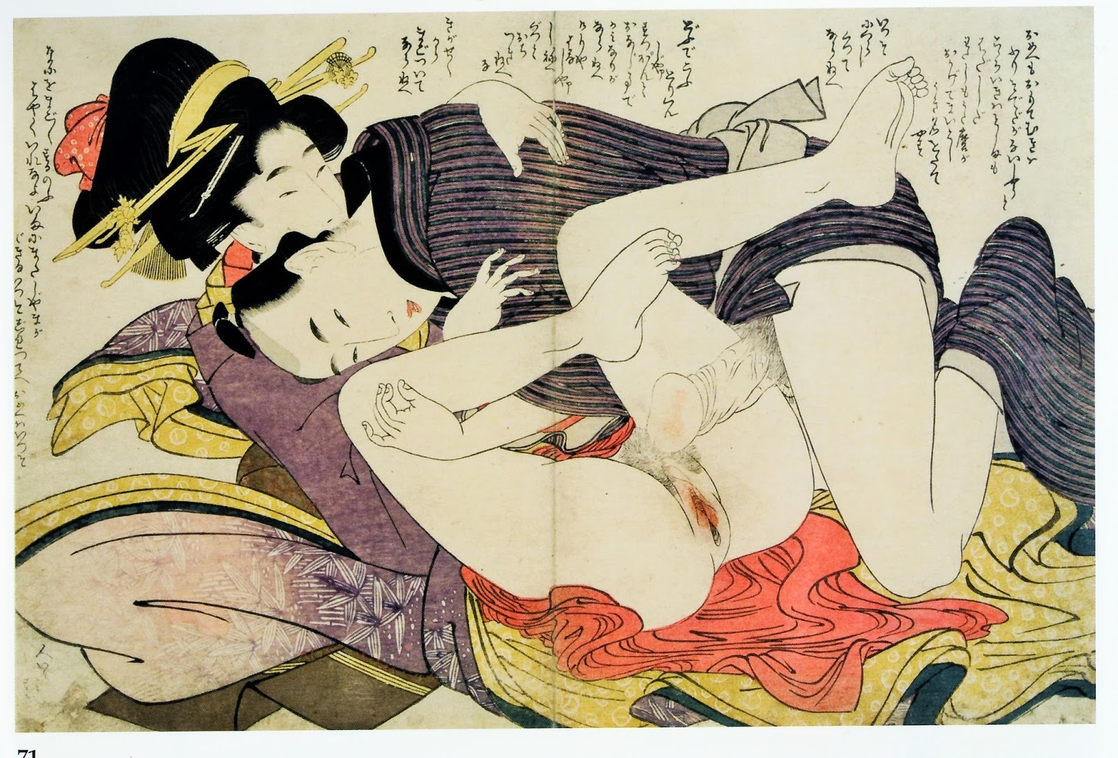 Original japanese woodblock print ukiyoe erotic shunga meiji era shin hanga gallery