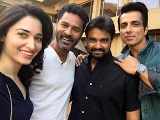 Prabhudeva and Tamannaah Devi(L) Tamil teaser download