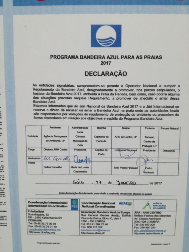 Programa de bandeira Azul