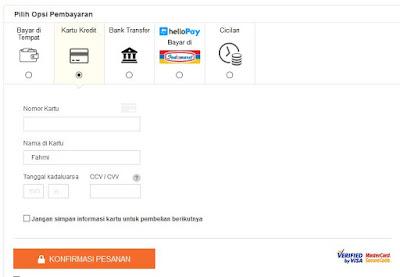 cara kredit di lazada dengan kredivo dan kartu kredit