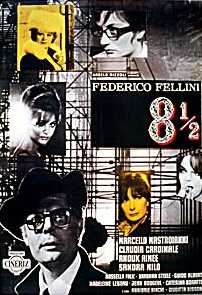The original publicity poster for the Fellini movie 8½