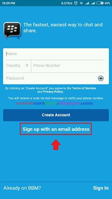 Cara Daftar BBM Dengan Nomor Telepon di Hp Android