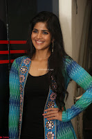 Megha Akash in a beautiful Anarkali dress with Long Jacket at LIE success meet ~  Exclusive Celebrities Galleries 019.JPG