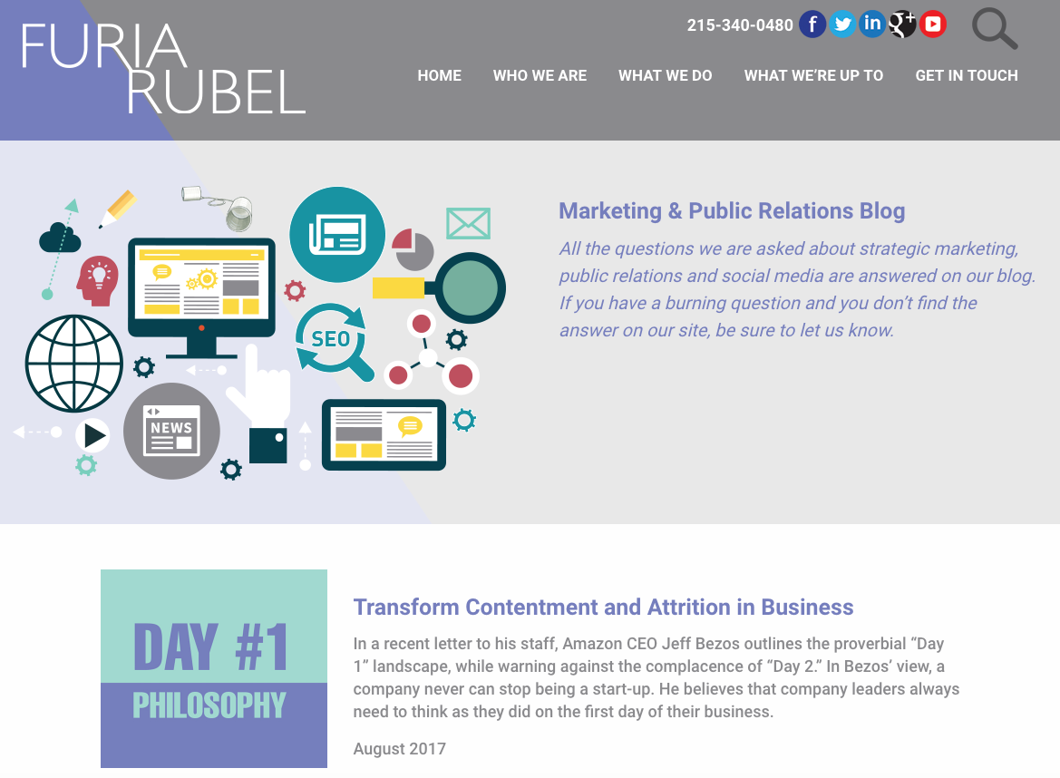 Furia Rubel Launches New Marketing and PR Blog