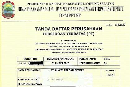 Daftar Agen Pulsa Resmi Dan Legalitas Surat Izin Usaha Serta Tanda Daftar Perusahaan