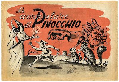 Pinocchio ingannato dal Gatto e la Volpe allusivi al Fronte formato dacomunisti e socialisti
