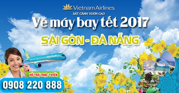 Vé máy bay tết 2017 Sài Gòn đi Đà Nẵng hãng Vietnam Airlines