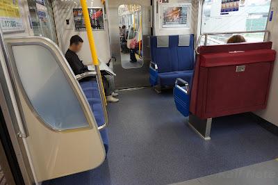 京急1000形16次車車両端の座席