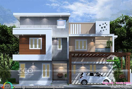 Front elevation design of a modern home