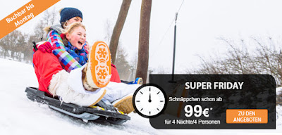 Sunparks Black Friday Angebot
