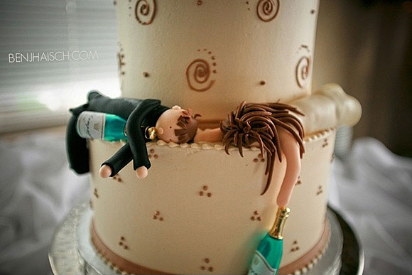 realistic wedding cake topper