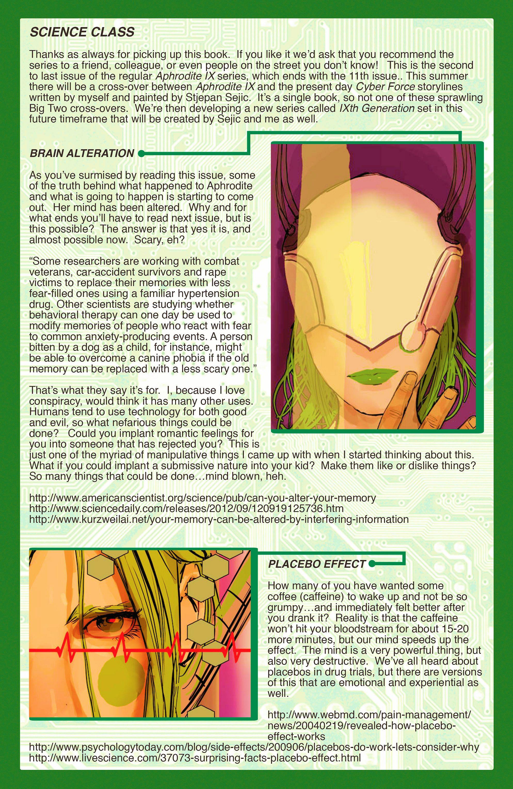 Read online Aphrodite IX (2013) comic -  Issue #10 - 22