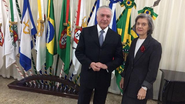 Ministra Cármem Lúcia assume a Presidência da República pela segunda vez no ano