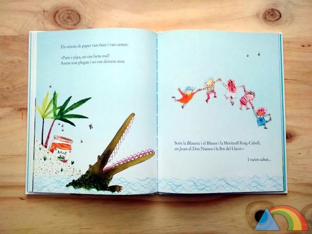 Interior del libro Los muñecos de papel