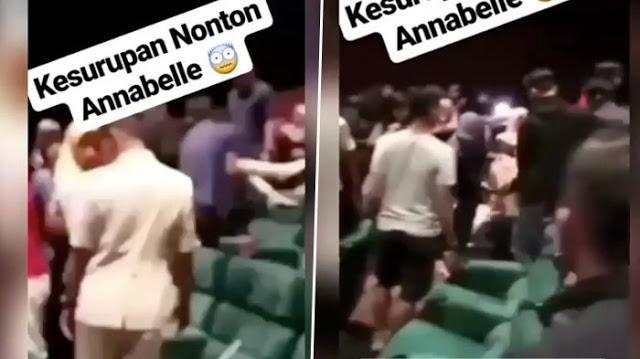 Terlalu Menjiwai Nonton Film Annabelle 2 Dibioskop Remaja Ini Kerasukan, Lihat Videonya Dengarkan Suara Wanita Ini