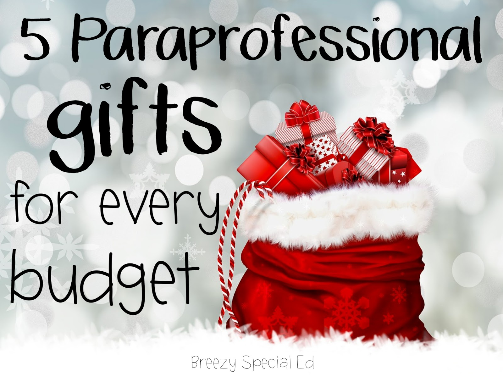 Christmas Gifts for Paraprofessionals - Breezy Special Ed