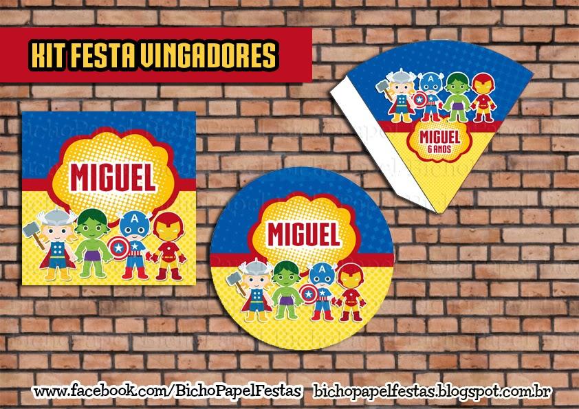 Kit Festa Vingadores (Avengers)