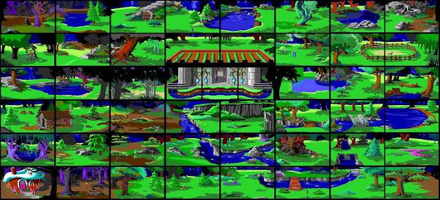 Mapa King's Quest I