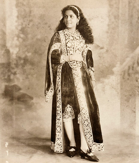 An Indian Beauty in the Victorian Mughal Costume, circa 1890